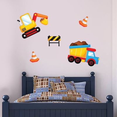 Construction Vehicles Wall Sticker Set