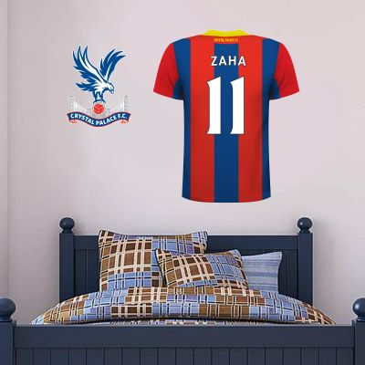 Crystal Palace Football Club - Personalised Football Shirt Wall Sticker + Crystal Palace Crest