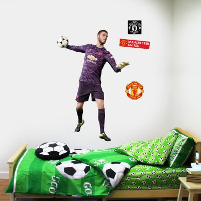 Manchester United F.C. - David De Gea Throwing Ball Player Decal + Bonus Wall Sticker Set
