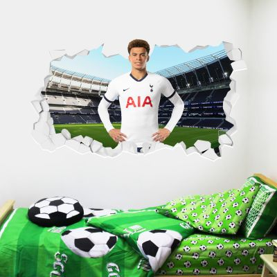 Tottenham Hotspur Football Club - Dele Alli Broken Wall Sticker + Spurs Wall Sticker Set