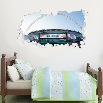 England Wembley Stadium Broken Wall Sticker (Outside)