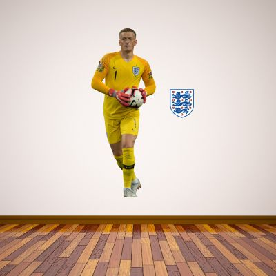 Jordan Pickford Player Wall Sticker+ Bonus England Sticker Set