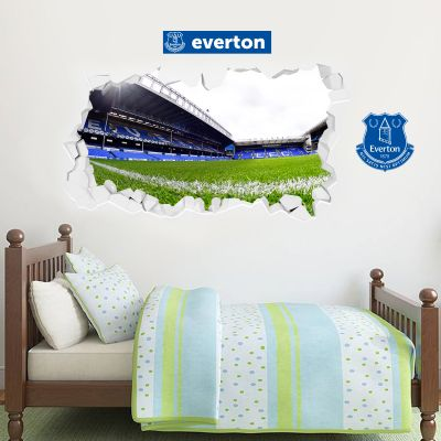 Everton Football Club - Smashed Goodison Park Stadium + Toffees Wall Sticker Set