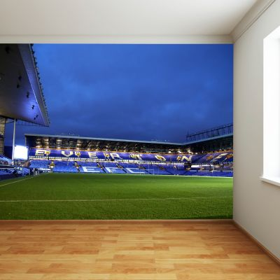 Everton FC - Goodison Park Stadium Full Wall Mural Night Time Inside Stadium Picture