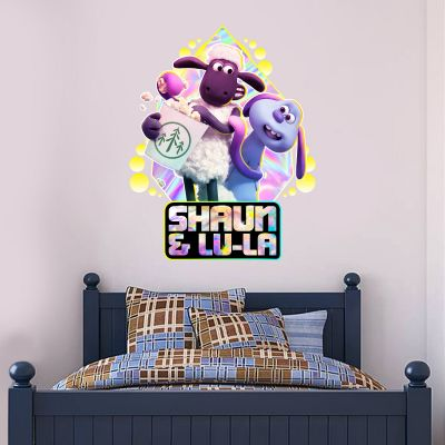 Shaun The Sheep: Farmageddon Shaun And Lu-La Popcorn Wall Sticker