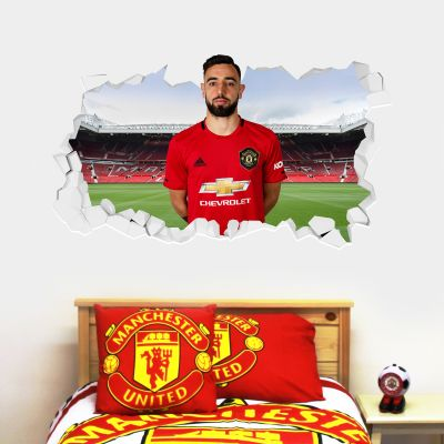 Manchester United F.C. - Bruno Fernandes Broken Wall Sticker