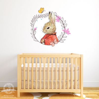 Peter Rabbit Wall Sticker - Flopsy Bunny Flower Wreath