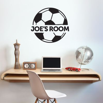 Football Design & Name Wall Sticker