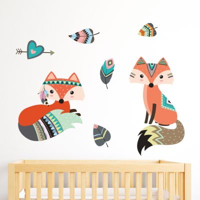 Native Wildlife - Fox Wall Sticker Set