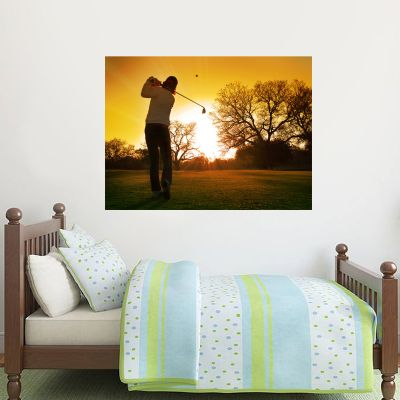 Golfer Sunset Wall Sticker