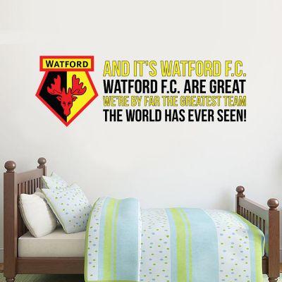 Watford FC - 'Greatest Team' Song Wall Sticker