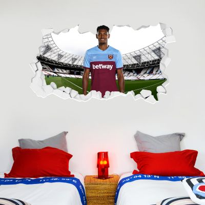 West Ham United Football Club - Sebastien Haller Smashed Wall Mural + Hammers Wall Sticker Set