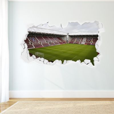 Hearts Football Club - Smashed Tynecastle Park Stadium + Wall Sticker Set