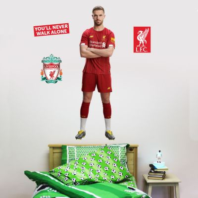 Liverpool FC - Jordan Henderson Player Decal + LFC Wall Sticker Set