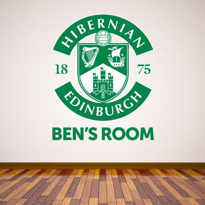 Hibernian F.C. Crest & Personalised Name Wall Sticker