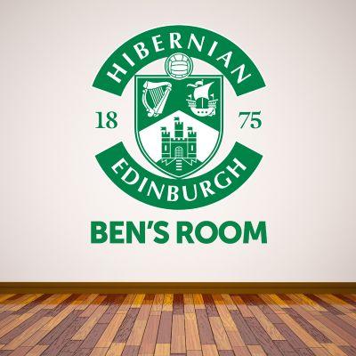 Hibernian F.C. Crest & Personalised Name Wall Sticker