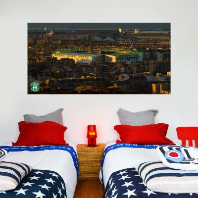 Hibernian F.C. Easter Road Stadium Wall Sticker - Outside Night Time