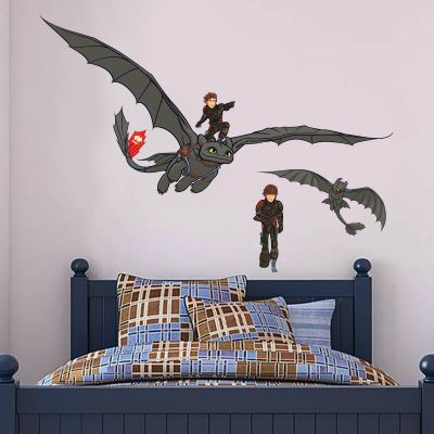 How To Train Your Dragon - Hiccup & Toothless Wall Sticker Set