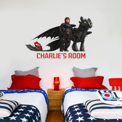 How To Train Your Dragon - Hiccup & Toothless Personalised Wall Sticker