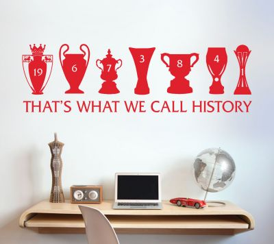 Liverpool Football Club Trophy History Wall Sticker