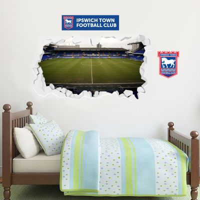 Ipswich Town F.C. - Smashed Portman Road Stadium + Blues Wall Sticker Set