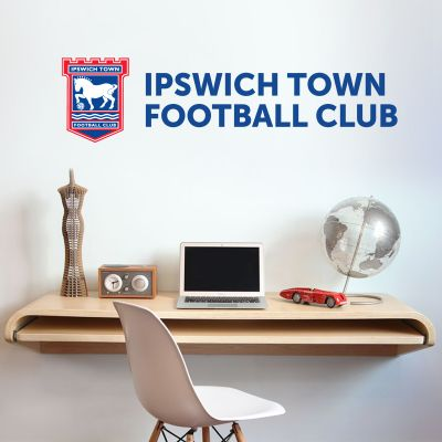 Ipswich Town F.C. - Crest & Club Name + Blues Wall Sticker Set