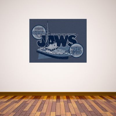 Jaws Wall Sticker - Bigger Boat Distress Graphic