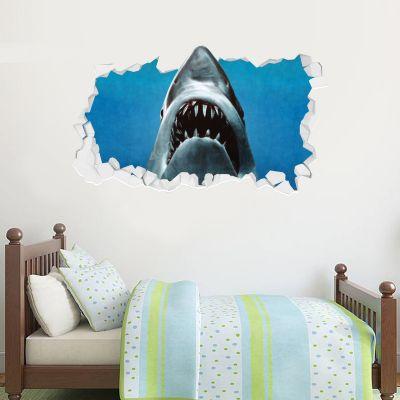 Jaws Wall Sticker - Shark Broken Wall