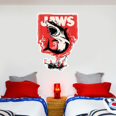Jaws Wall Sticker - Red Shark Graphic