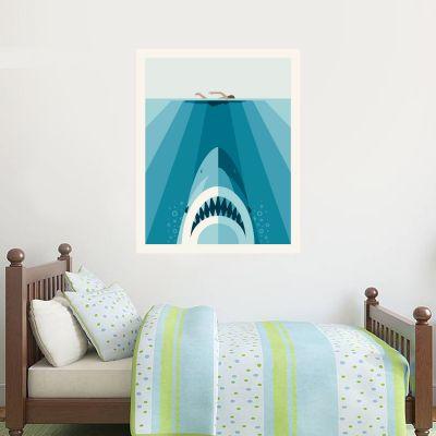 Jaws Wall Sticker - Stylized Shark Graphic