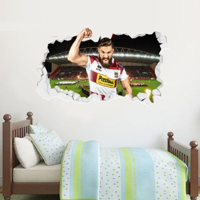 Wigan Warriors Rugby Club Jarrod Sammut Player Smashed Wall Sticker