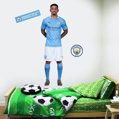Manchester City FC - Gabriel Jesus 20/21 Player Decal + Bonus Wall Sticker Set