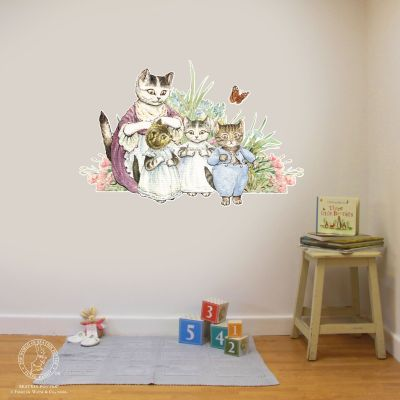 Peter Rabbit Wall Sticker - Kittens and Flowers