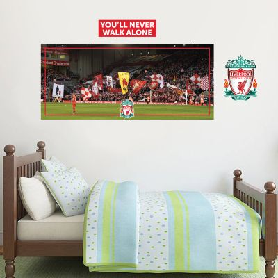 Liverpool Football Club - Anfield Stadium (View Of The Kop) Wall Mural + LFC Wall Sticker Set