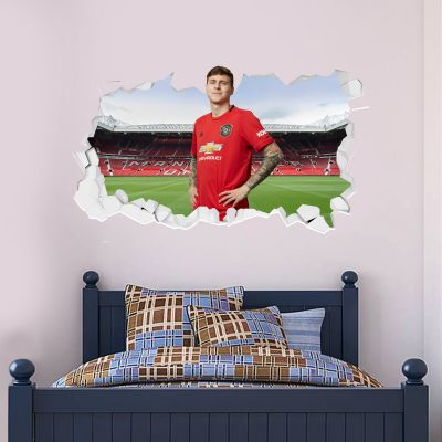 Manchester United F.C. - Victor Lindelof Broken Wall Sticker