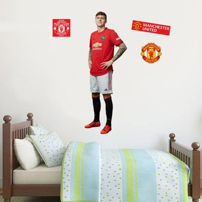Manchester United F.C. - Lindeloft Player Decal + Bonus Wall Sticker Set
