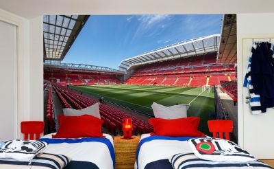 Liverpool FC Anfield Stadium Full Wall Mural - Corner Image of Stadium