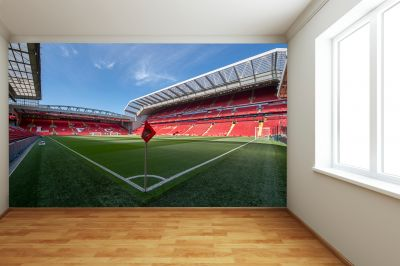 Liverpool FC Anfield Stadium Full Wall Mural - Corner Flag Image