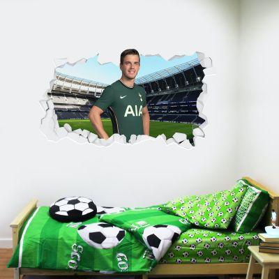 Tottenham Hotspur Football Club - Lo Celso 20/21 Broken Wall Sticker + Spurs Wall Sticker Set