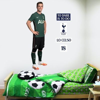 Tottenham Hotspur Football Club - Lo Celso 20/21 Player Wall Mural + Spurs Wall Sticker Set