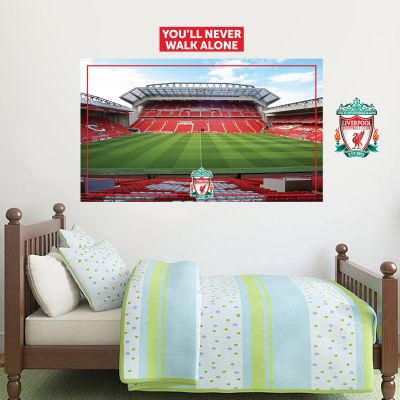 Liverpool Football Club - Anfield Stadium (The Mainstand) Wall Mural + LFC Wall Sticker Set