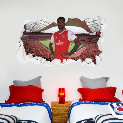 Arsenal Football Club - Ainsley Maitland-Niles Smashed + Gunners Wall Sticker Set