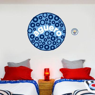 Manchester City Football Club - Aguero Blue Moon Wall Sticker