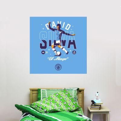 Manchester City Football Club - David Silva 10 Years Wall Sticker