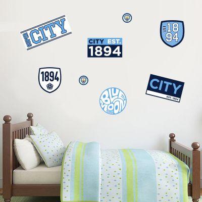 Manchester City Football Club - Est 1894 Wall Sticker Set