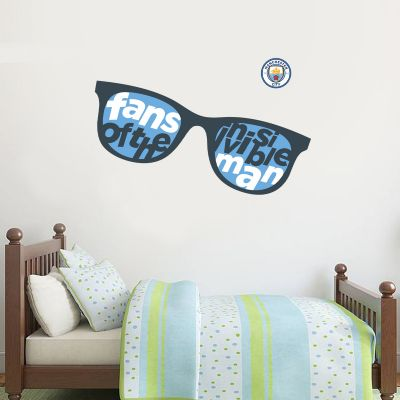 Manchester City Football Club - Invisible Man Glasses Wall Sticker