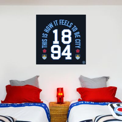 Manchester City Football Club - This Is How It Feels To Be City Wall Sticker