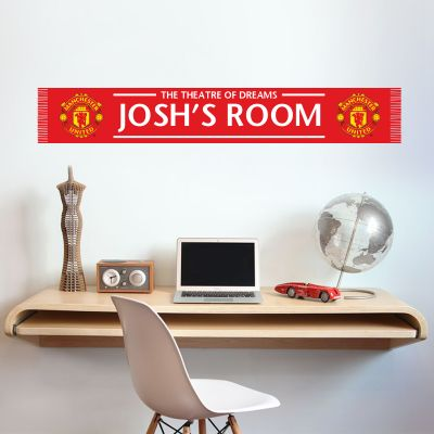 Manchester United F.C. - Personalised Bar Scarf Wall Sticker