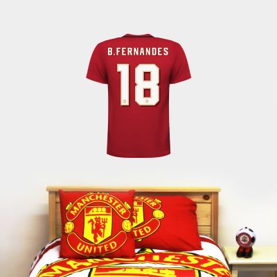 Manchester United F.C. - Personalised 19/20 Shirt Wall Sticker + Decal Set