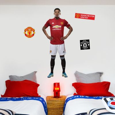 Manchester United F.C. - Anthony Martial 20/21 Player Decal + Bonus Wall Sticker Set